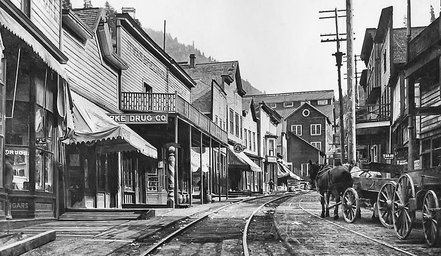 Burke Photograph - Mainstreet Burke Ghost Town - Idaho by Daniel Hagerman