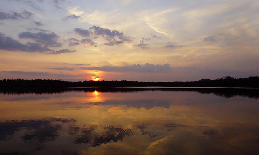 Sunset Photograph - Majestic  Heavens  by John Ungureanu