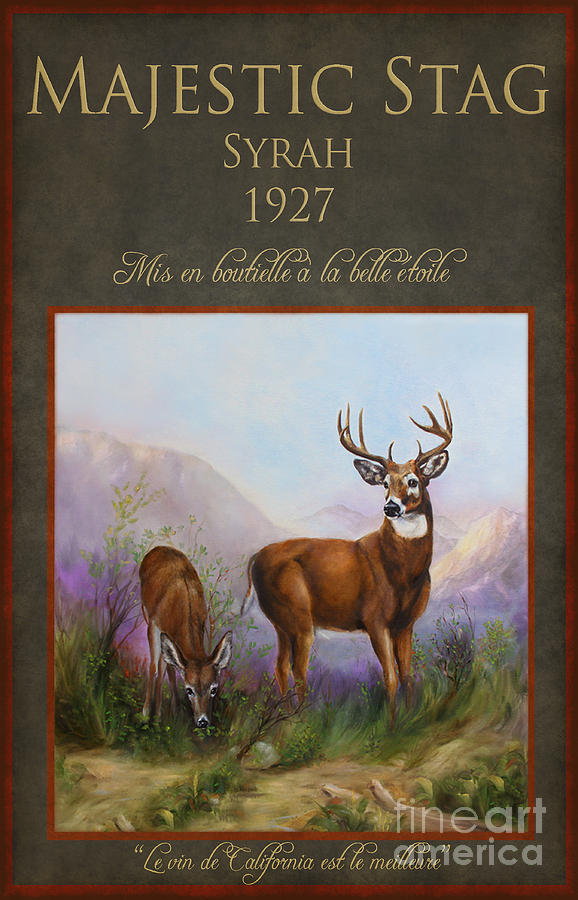 Wine Painting - Majestic Stag by Stella Violano