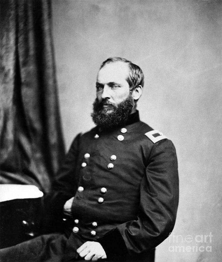 Government Photograph - Major General Garfield, 20th American by Chicago Historical Society