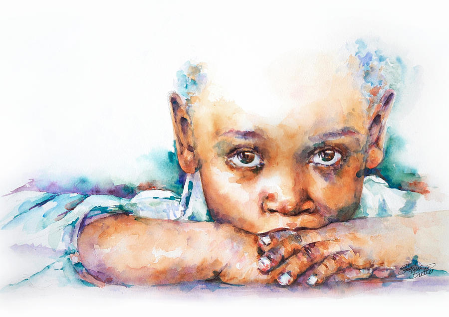 Portrait Painting - Make A Wish by Stephie Butler