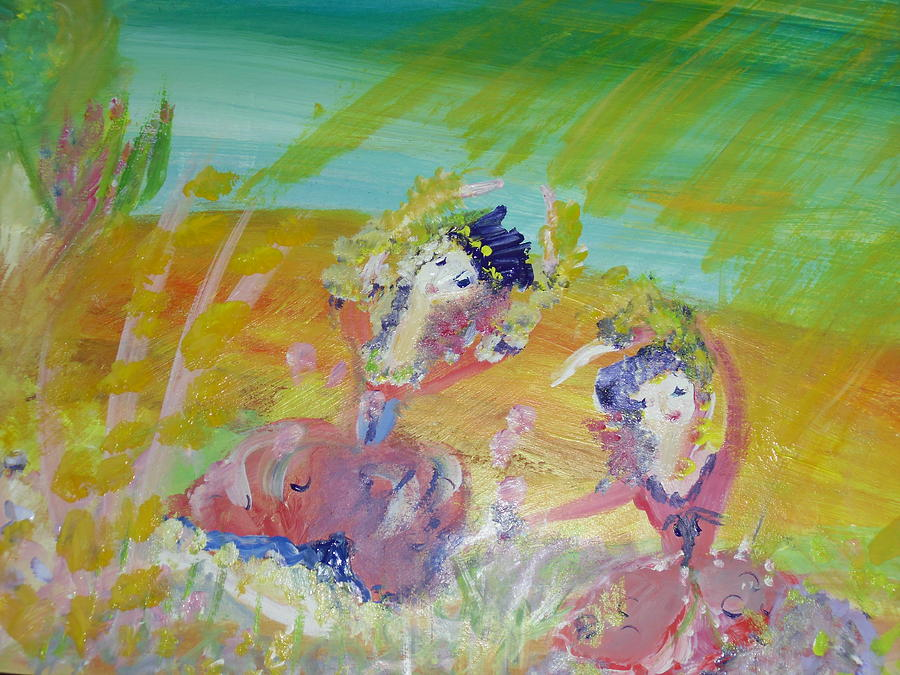 Sunshine Painting - Make Hay While The Sunshines by Judith Desrosiers