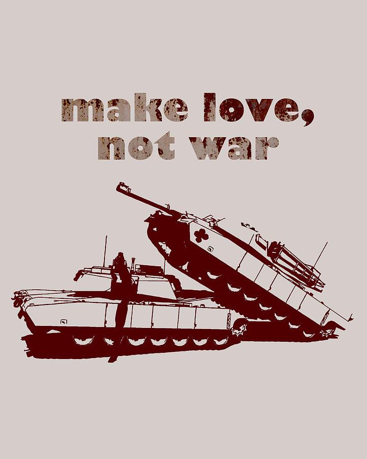 Love Digital Art - Make Love Not War by Bojan Bundalo
