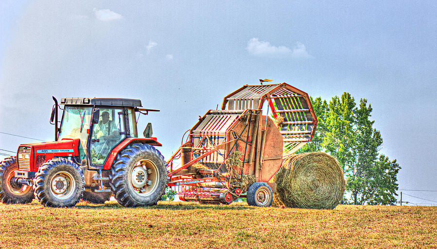 Hay Photograph - Making Hay by Barry Jones