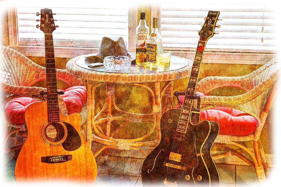 Guitar Photograph - Making Music 003 by Barry Jones