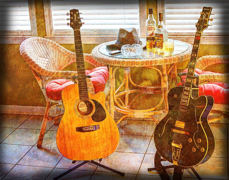 Guitar Photograph - Making Music 004 by Barry Jones