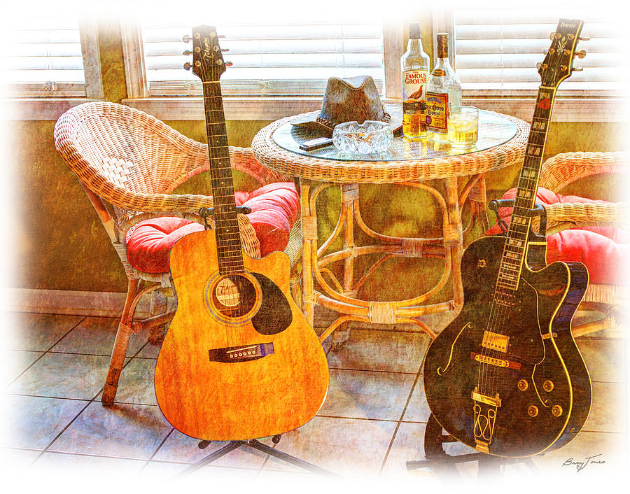 Guitar Photograph - Making Music 005 by Barry Jones