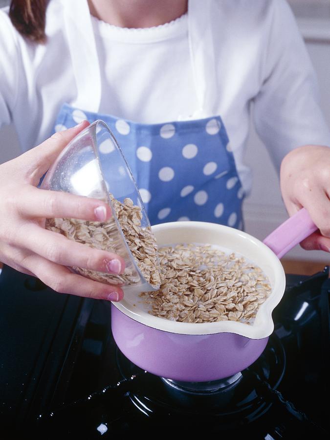 Equipment Photograph - Making Porridge From Oats by Veronique Leplat