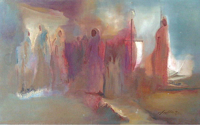 Abstract Painting - Malabar by Jaffo Jaffer
