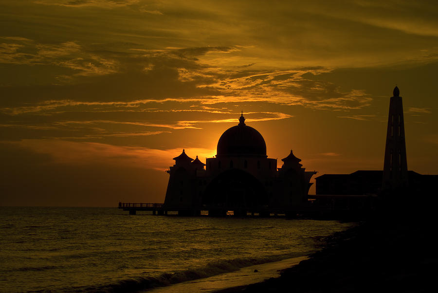 Mosque Photograph - Malacca Straits Mosque by Ng Hock How