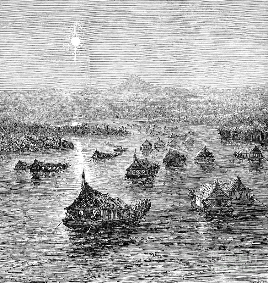 1876 Photograph - Malaya: Perak River, 1876 by Granger