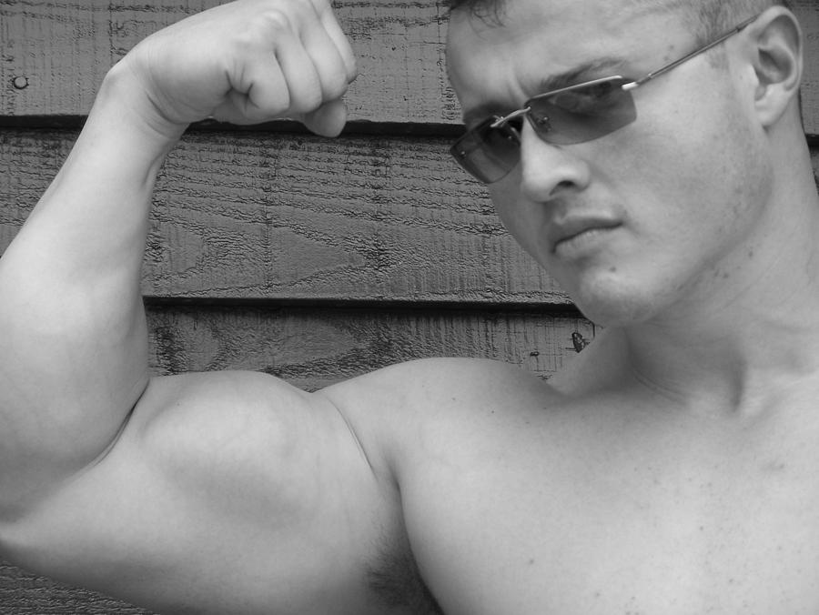Sergio King Photograph - Male Muscle Art  Poser by Jake Hartz