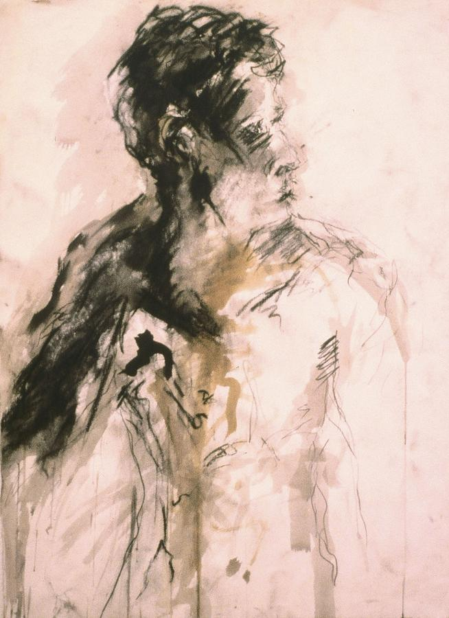 Male Drawing - Male Portrait 3 by Iris Gill