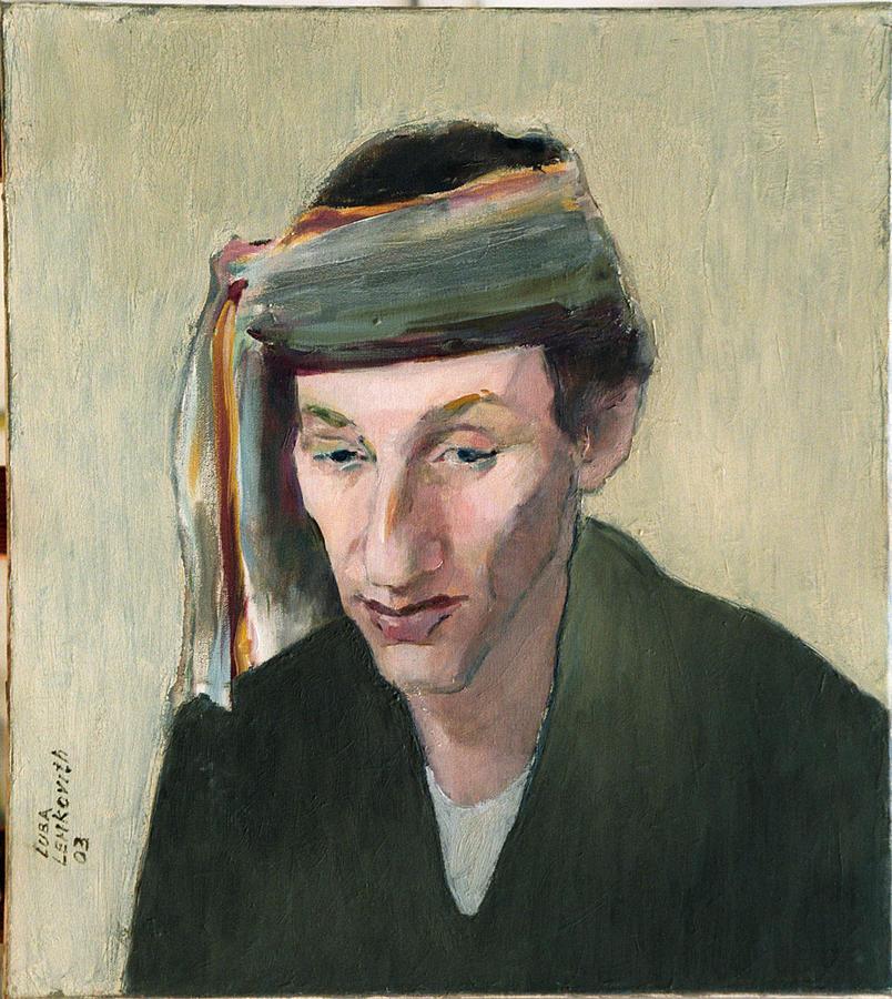 Male Portrait Painting by Liubov Meshulam Lemkovitch