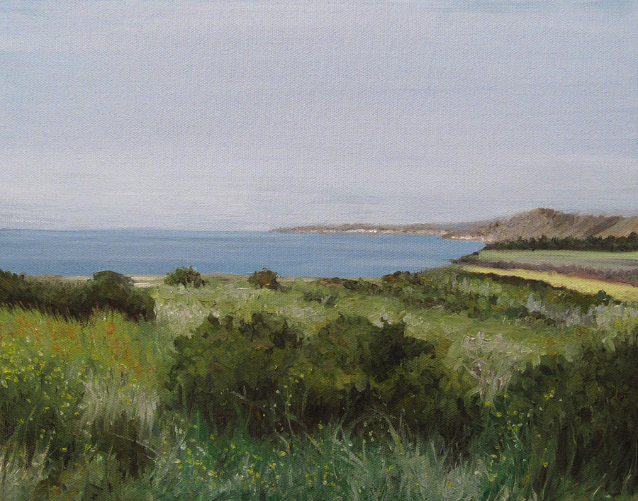 Malibu Painting - Malibu Bluffs by Cristin Paige