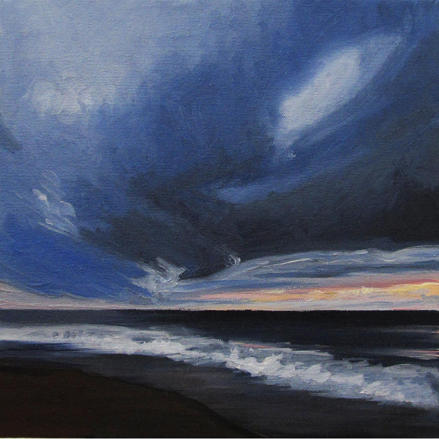Ocean Painting - Malibu Sunset by Cristin Paige