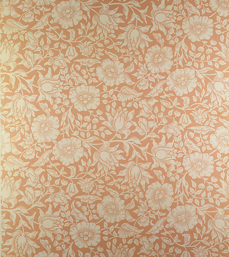 Designs Tapestry - Textile - Mallow Wallpaper Design by William Morris