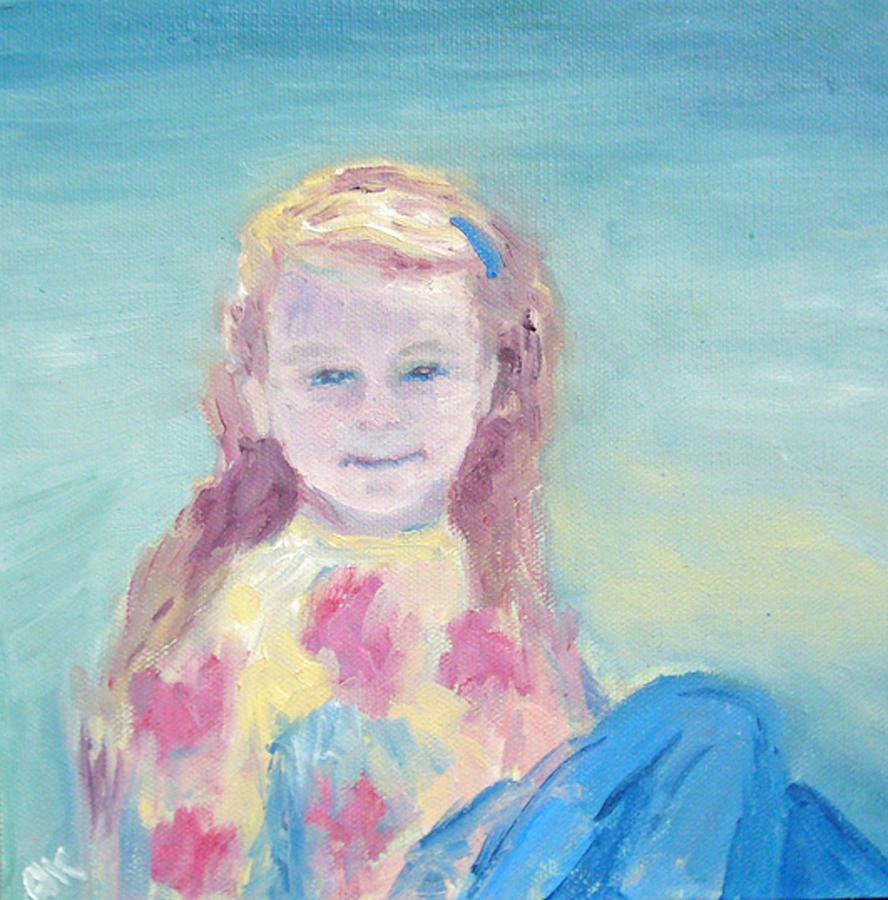 Child Portrait Painting - Malve Portrait by Barbara Anna Knauf