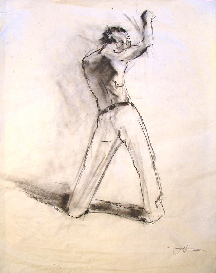 Figure Drawing - Man by Eric Atkisson