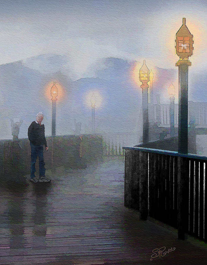 Scenic Painting - Man In A Fog by Suni Roveto
