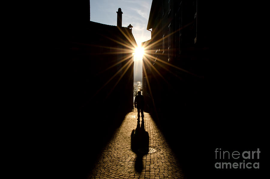Man In Backlight Photograph By Mats Silvan