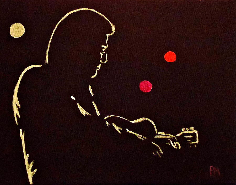 Johnny Cash Painting - Man In Backlit by Pete Maier