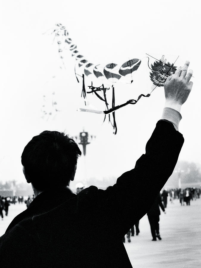 Kite Photograph - Man With A Kite by Linde Townsend
