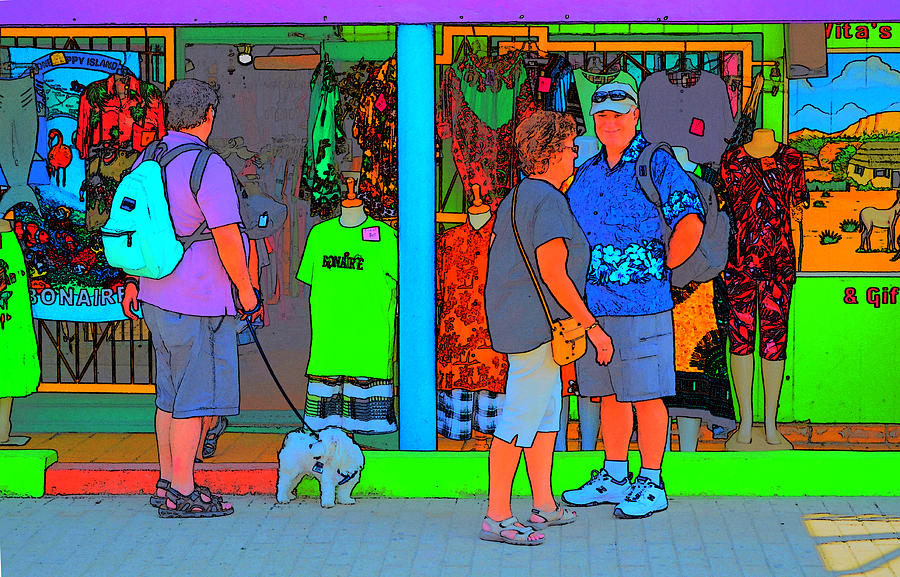 Tropical Photograph - Man With Dog by Richard Ortolano