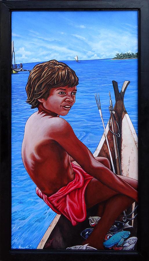 Islands Painting - Managaha Bound by Robert Hunter