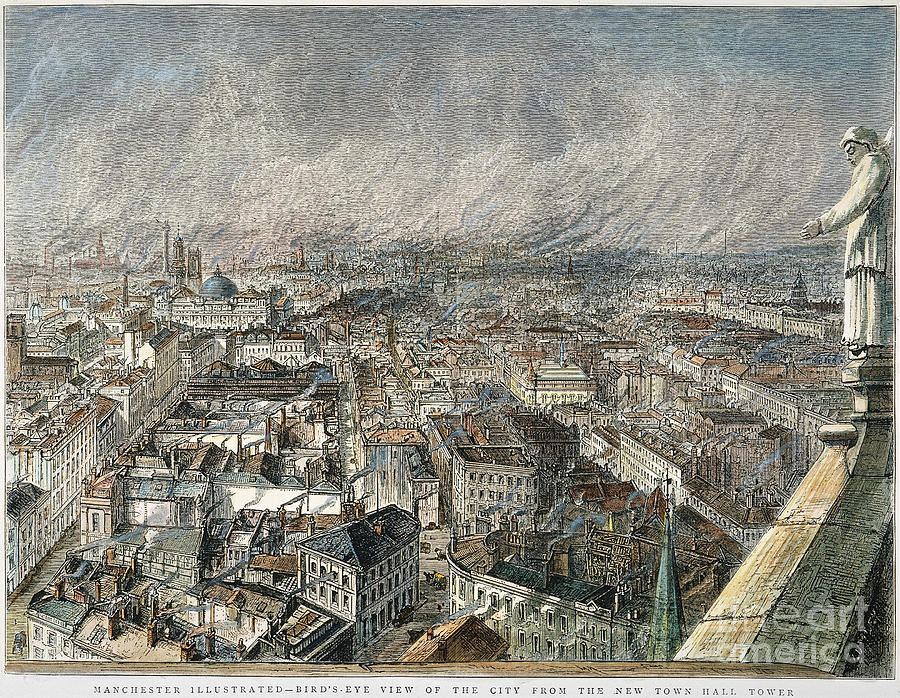 1876 Photograph - Manchester, England, 1876 by Granger