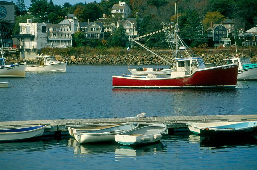 Fishing Boats Photograph - Manchester Harbor Manchester By The Sea Ma   by Stephen Prunier