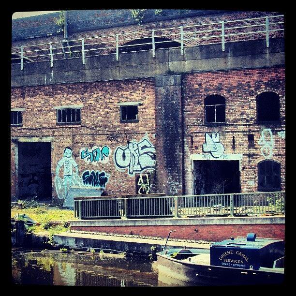 England Photograph - #manchestercanal #manchester #canal #uk by Abdelrahman Alawwad