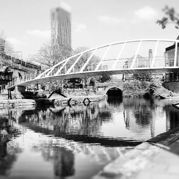 Bridge Photograph - #manchestercanal #manchester #city by Abdelrahman Alawwad