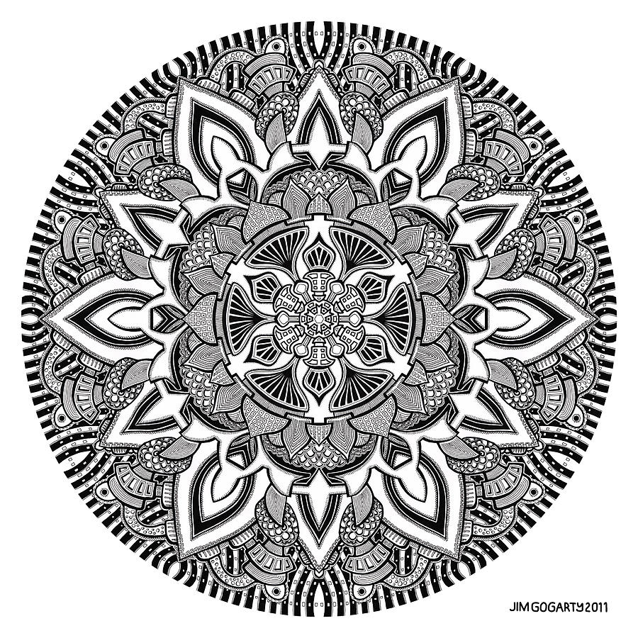The mandala coloring book jim gogarty - Mandala 10 Drawing By Jim Gogarty