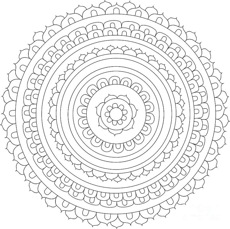 Mandala 9 Drawing by The Mandala Company The Mandala Company