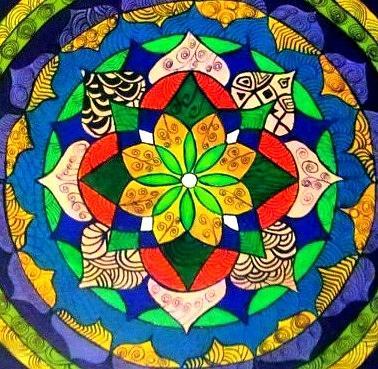 Mandala Painting - Mandala Circle Of Life by Sandra Lira