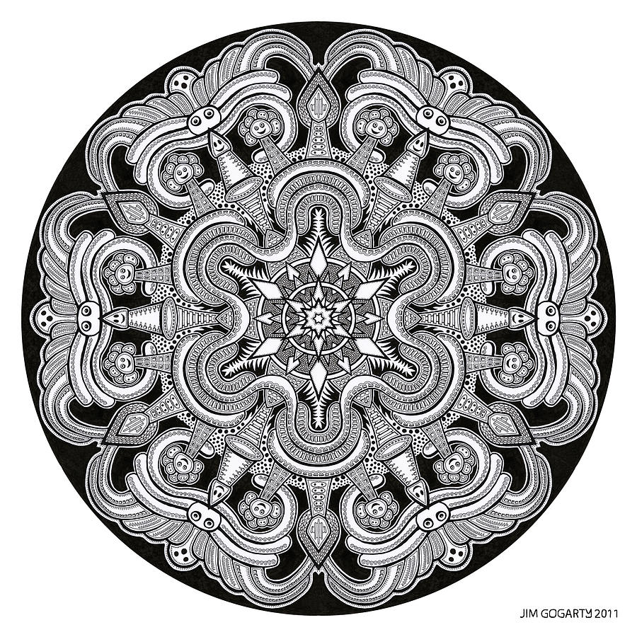 The mandala coloring book jim gogarty - Mandala Drawing 31 By Jim Gogarty