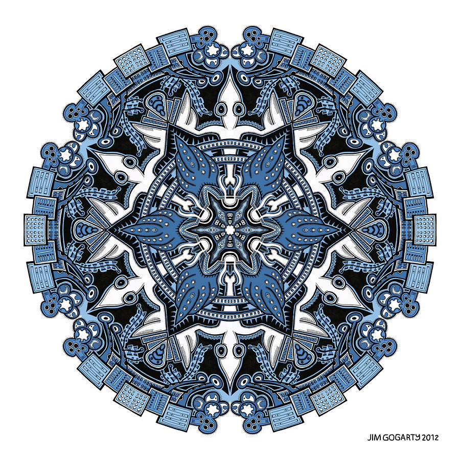 The mandala coloring book jim gogarty - Mandala Drawing 34 Coloured V1 By Jim Gogarty