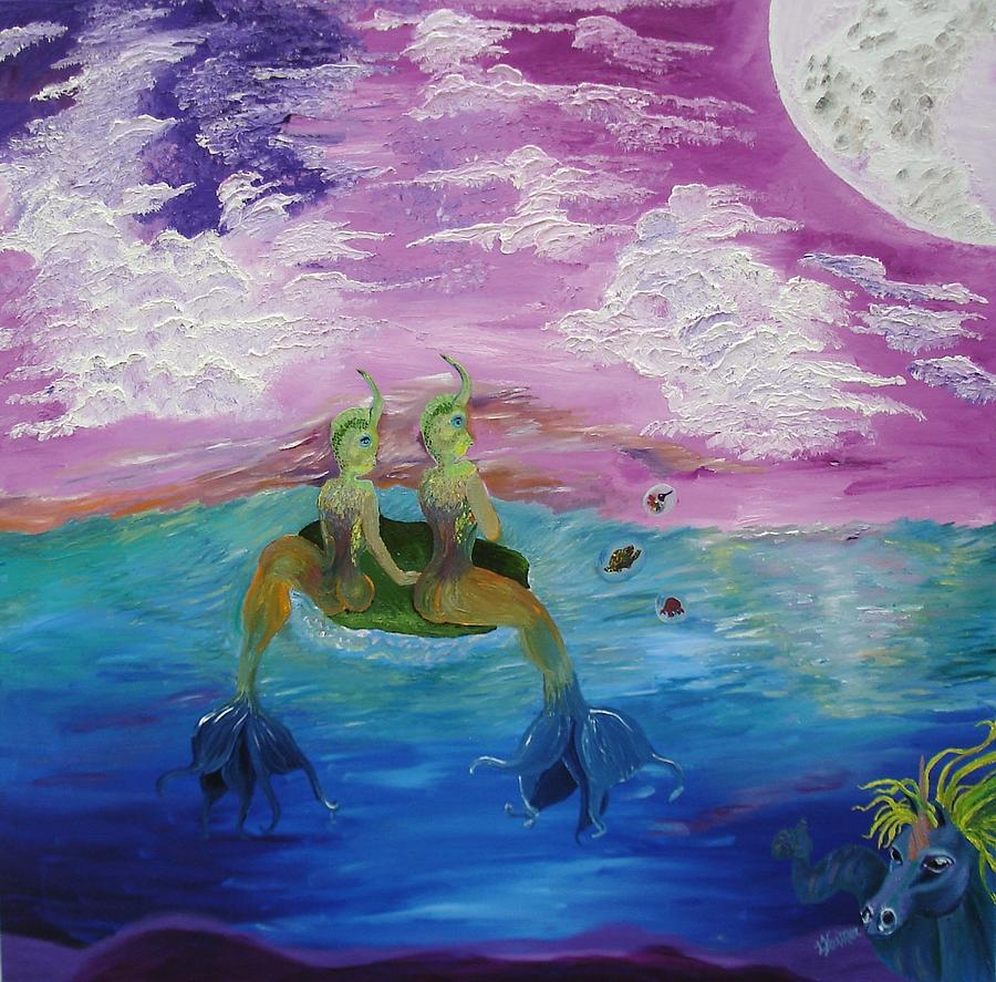 Water Painting - Mandarin Dream by Lisa Kramer