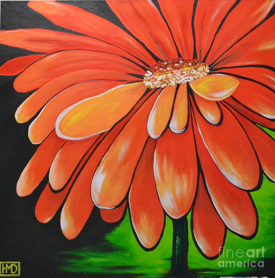 Orange Flower Painting - Mandarin Orange by Holly Donohoe