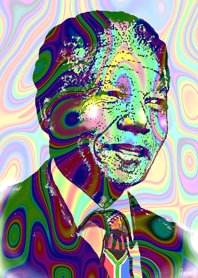 Nelson Mandela Digital Art - Mandiba by Harold Egbune