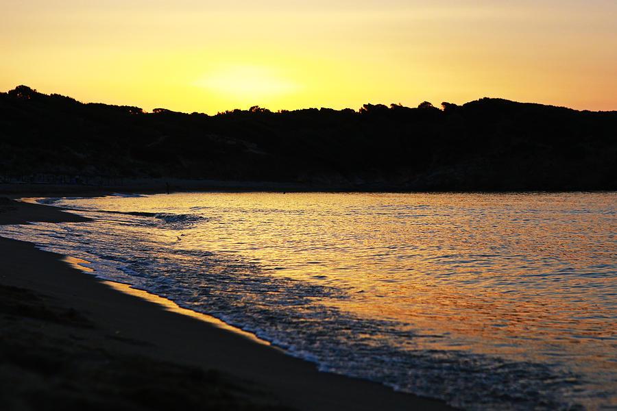 Sunset Photograph - Mandraki Elias Beach Sunset Skiathos by Nick Karvounis