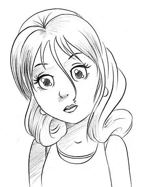 Manga Girl Drawing By Yogesh Singh