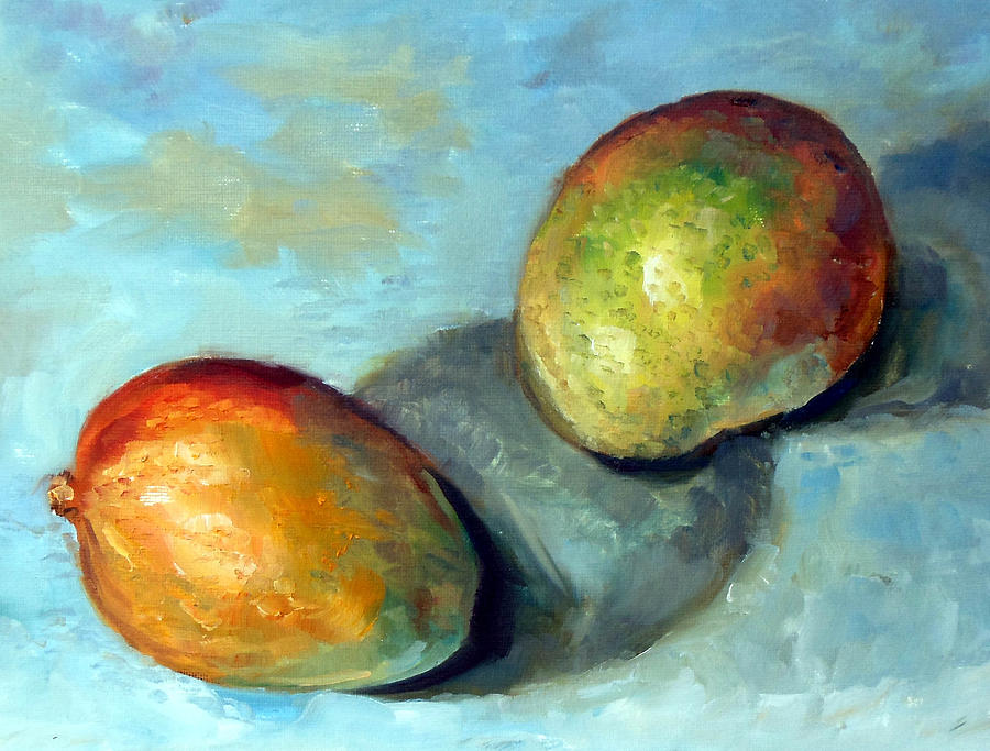 Oil Painting Painting - Mangos by Mark Hartung
