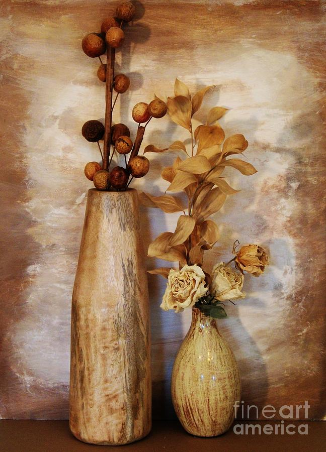 Photo Photograph - Mangowood Vase by Marsha Heiken