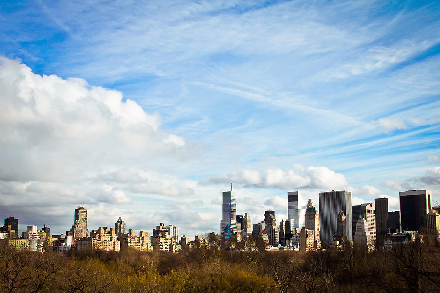 New York Photograph - Manhattan Behing The Central Park by Ezequiel Rodriguez Baudo