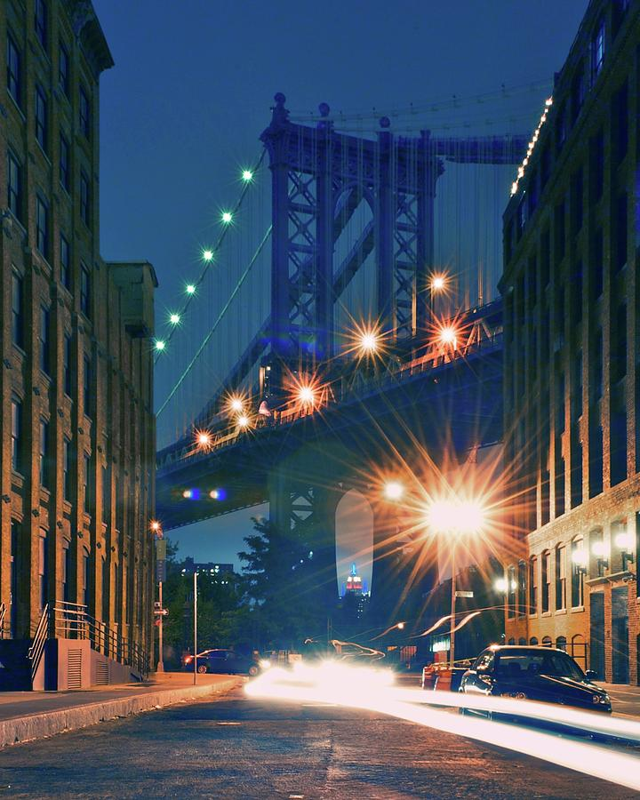 Vertical Photograph - Manhattan Bridge by Thomas Kurmeier
