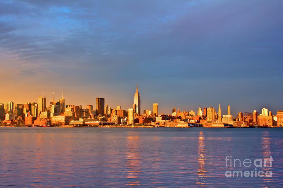 Manhattan Photograph - Manhattan Skyline At Golden Hour by Archana Doddi