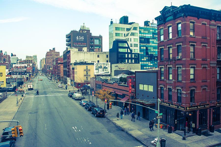 City Photograph - Manhattan Street Scene by Nancy Kennedy