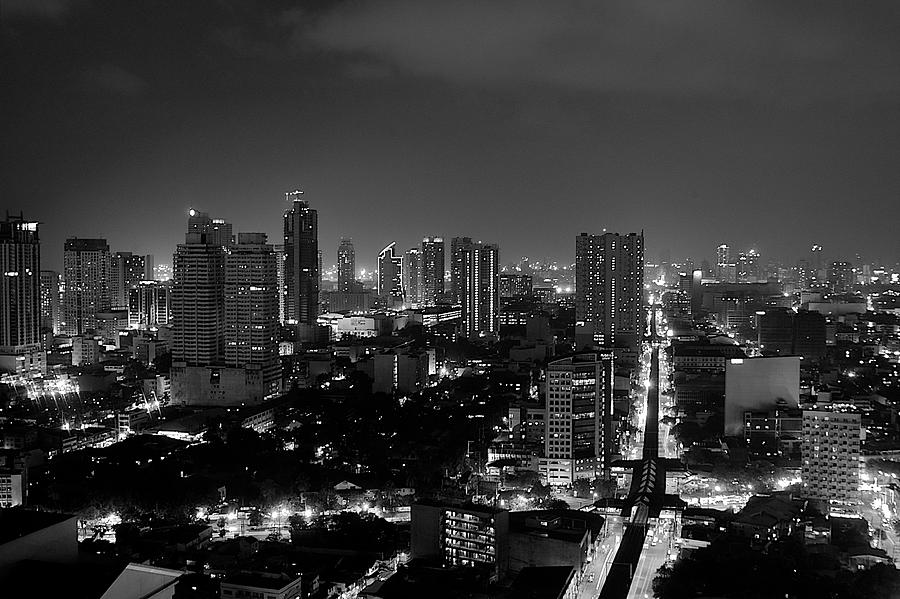 Manila Photograph - Manila Skyline by Arj Munoz